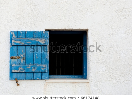 Abstract of Home Wall and Window with Shutters on the Island of  Stock photo © feverpitch