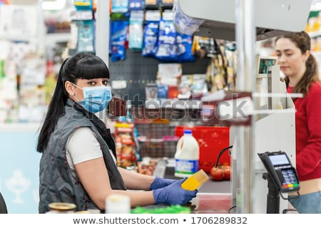Coronavirus panique crise Shopping médecine masques Photo stock © Illia