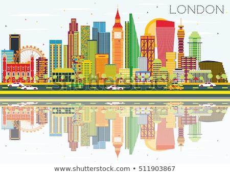 Londres Skyline gris ciel bleu voyage d'affaires tourisme Photo stock © ShustrikS