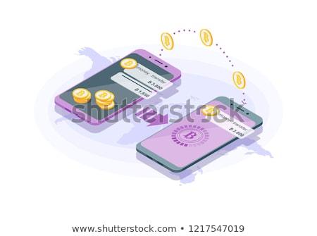 Akıllı telefonlar işlem finanse operasyon bitcoin Stok fotoğraf © karetniy