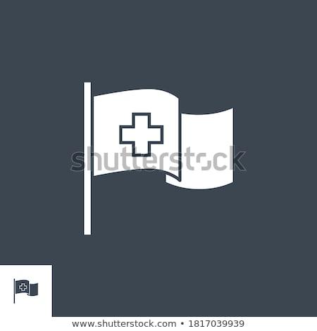 Medical Flag related vector glyph icon. Stock photo © smoki