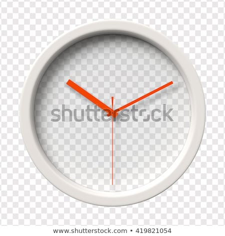 Realistic clock face with ten minutes timer on white Stock photo © evgeny89