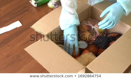 hands with package online shopping logistic Stock photo © yupiramos