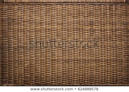 плетеный корзины текстуры деревенский дизайна материальных Сток-фото © Anneleven