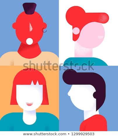 Women silhouette. Modern flat character Stock photo © FoxysGraphic
