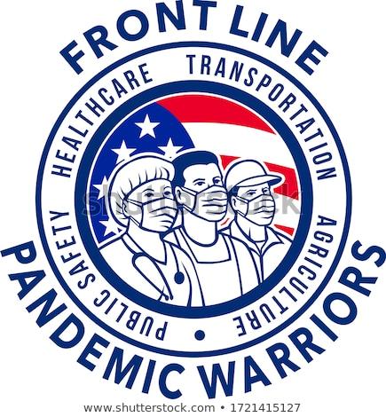 американский линия Воины круга икона Сток-фото © patrimonio