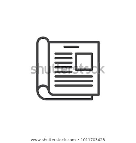 Kâğıt ikon vektör örnek imzalamak Stok fotoğraf © pikepicture