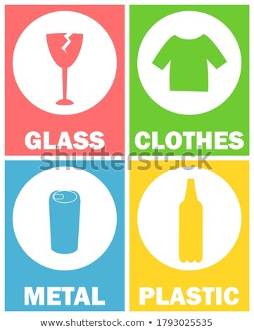 Clothes Sorting Garbage Tshirt Icon Green Vector Stock photo © robuart