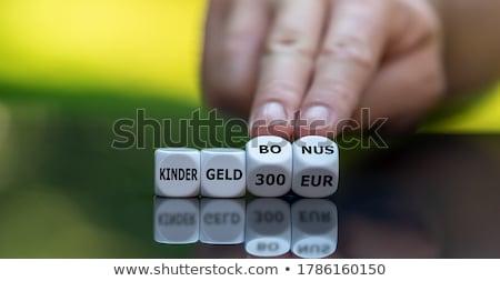 Woord kind voordeel toelage brieven houten Stockfoto © Mazirama