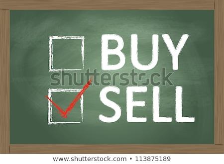 vásárol · elad · csekk · dobozok · iskolatábla · pénzügy - stock fotó © bbbar