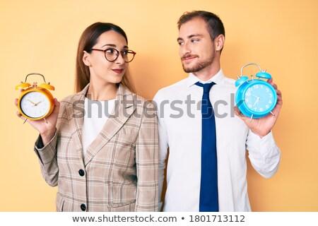 çift çalar saat kadın adam zaman Stok fotoğraf © photography33