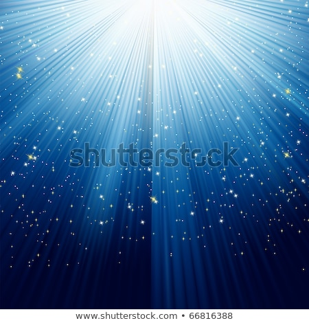 snowflakes and stars descending on a path eps 8 stock photo © beholdereye