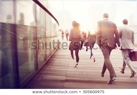 işkadını · bekleme · otobüs · genç · fincan · iş - stok fotoğraf © photography33