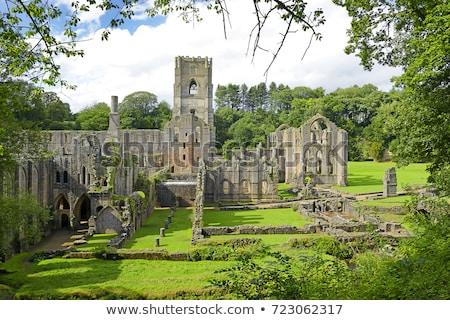 Abadia medieval mosteiro baixo chave paisagem Foto stock © chris2766
