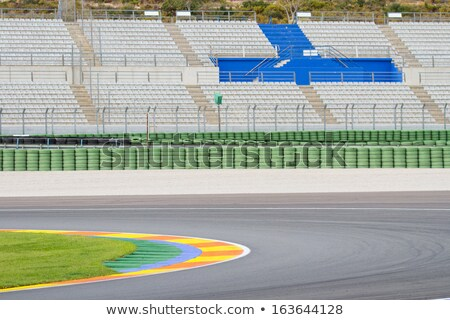 racetrack tribune with seat rows Stock photo © prill