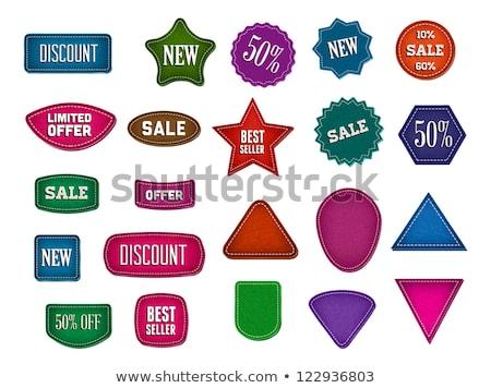 Ingesteld driehoek bladwijzers textuur verschillend Stockfoto © liliwhite