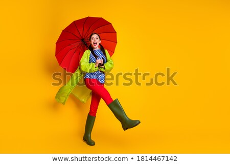 Nice girl wearing a coat stock photo © acidgrey