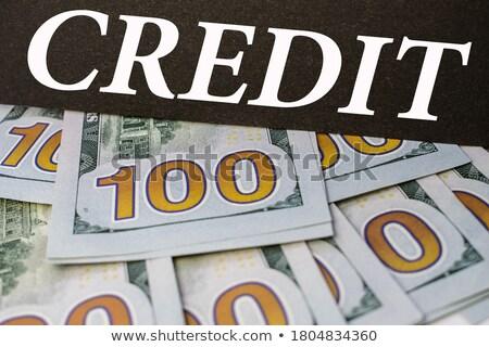 krediet · geschreven · bankbiljetten · witte · business · ontwerp - stockfoto © pterwort