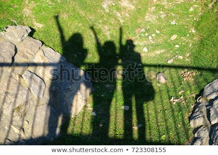 Group of friends laid in the grass in fall Stock photo © photography33