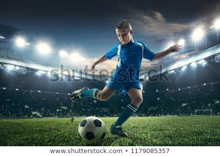 Jóvenes futbolista pelota aislado blanco fútbol Foto stock © grafvision