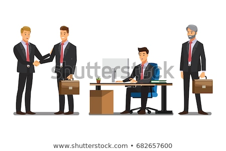 business man presents briefcase stock photo © feedough