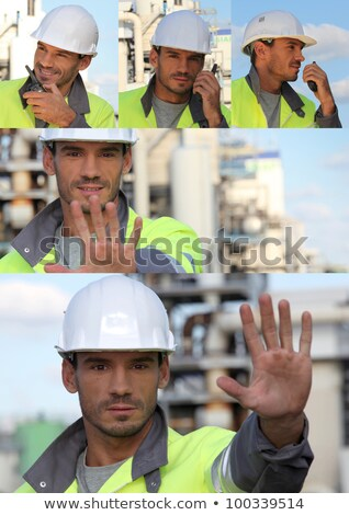 road worker making a stop sign with his hand Stock photo © photography33