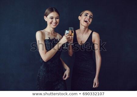 jonge · vrouw · mooie · beige · schoenen - stockfoto © acidgrey