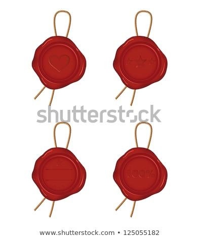 warranty 100 percent   stamp on red wax seal stock photo © tashatuvango