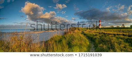 Paisagem mar báltico farol vermelho branco outono Foto stock © juniart