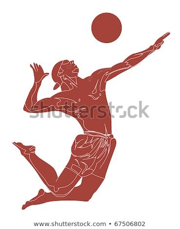 grego · voleibol · equipe · isolado · fundo - foto stock © bosphorus