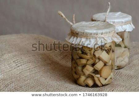 Eski kağıt yemek tarifleri baharatlar çuval bezi uzay Stok fotoğraf © oly5