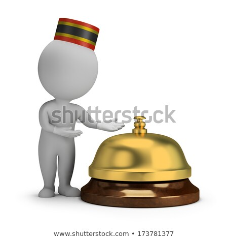 3d small people - bellboy and service bell Stock photo © AnatolyM