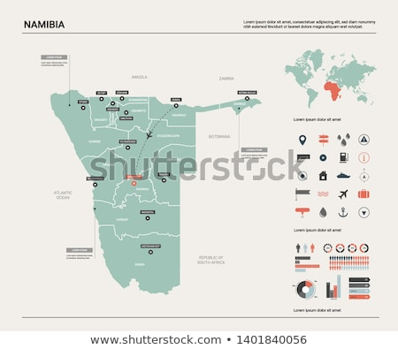 Намибия карта кнопки отзывчивый веб-дизайна изолированный Сток-фото © speedfighter