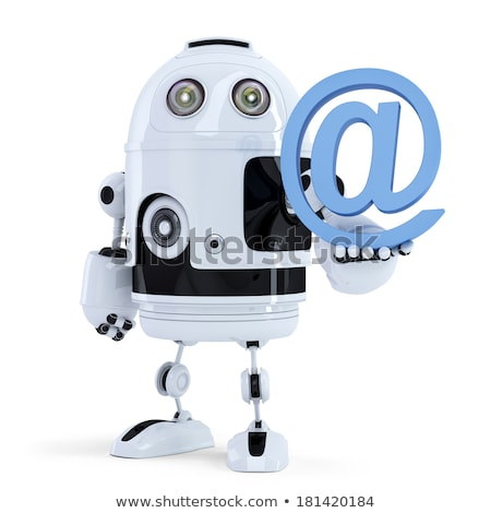 Robot holding an email symbol. Isolated. Contain clipping path Stock photo © Kirill_M