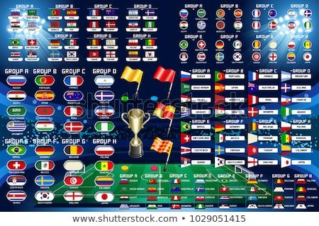 Brésil football championnat carte du monde icônes Photo stock © cienpies