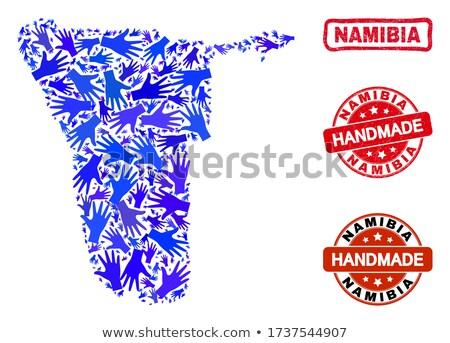 Namíbia vermelho isolado branco Foto stock © tashatuvango