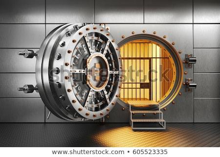 Bank gewelf 3D gegenereerde foto witte Stockfoto © flipfine