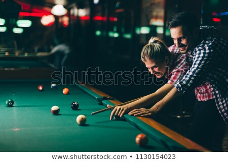 Bilhar amor homem casal tabela Foto stock © Jasminko
