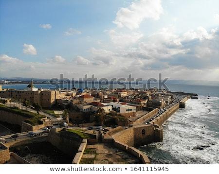 sea in akko acre israel stock photo © sarkao