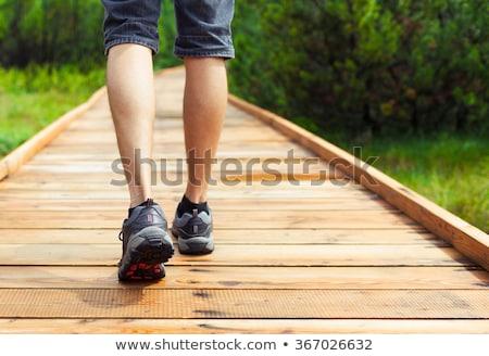 mattina · eseguire · ritratto · giovane · jogging · parco - foto d'archivio © hasloo