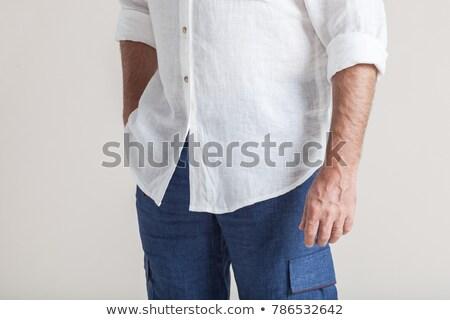 Retro man in blue pants Stock photo © Zebra-Finch