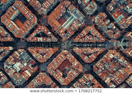 şehir Barcelona üzerinde Cityscape deniz binalar Stok fotoğraf © rognar