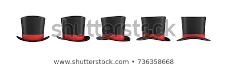 Black and red magician top hat  Stock photo © Elisanth