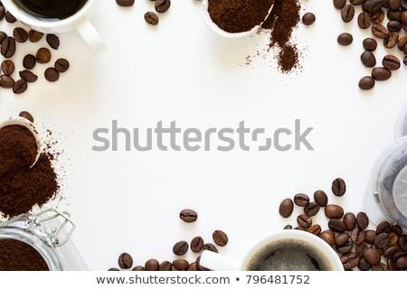 豆 コーヒーカップ カプセル 黒 反射 コーヒー ストックフォト © Studio_3321