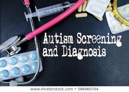 Tablet Text Autismus Display Computer Arzt Stock foto © Zerbor