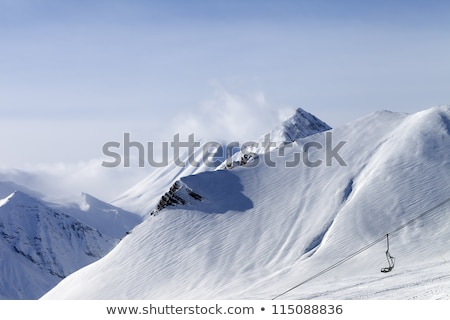 View on off-piste slope in clouds Stock photo © BSANI