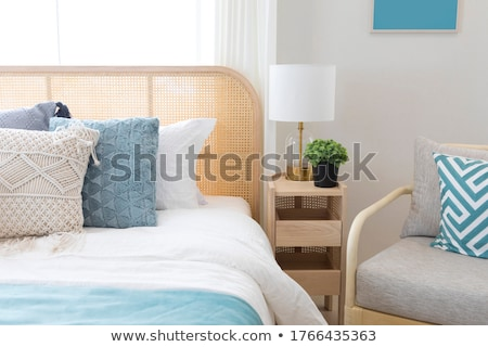 Plaid Blue Cushions Stock photo © stevanovicigor