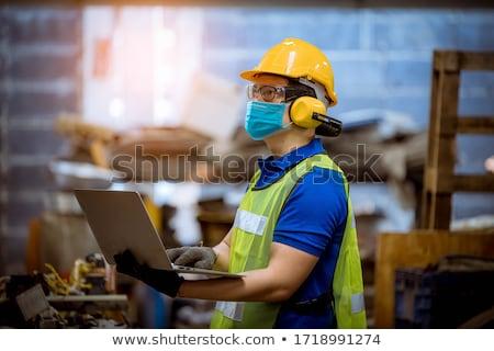 Protective Industrial Safety Helmet Stock photo © stevanovicigor
