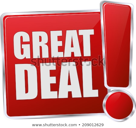 great offer red vector icon button stock photo © rizwanali3d