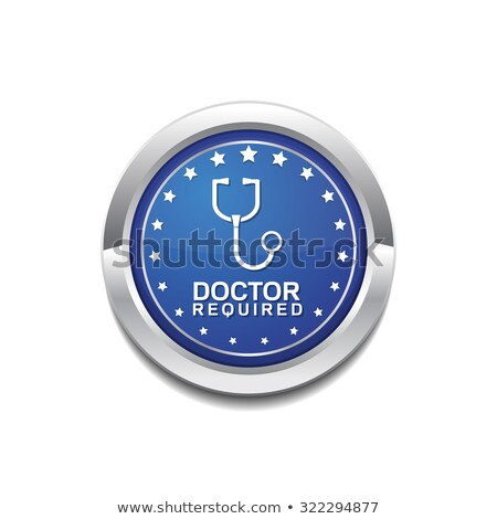 Doctor Required Blue Vector Icon Button Stock photo © rizwanali3d